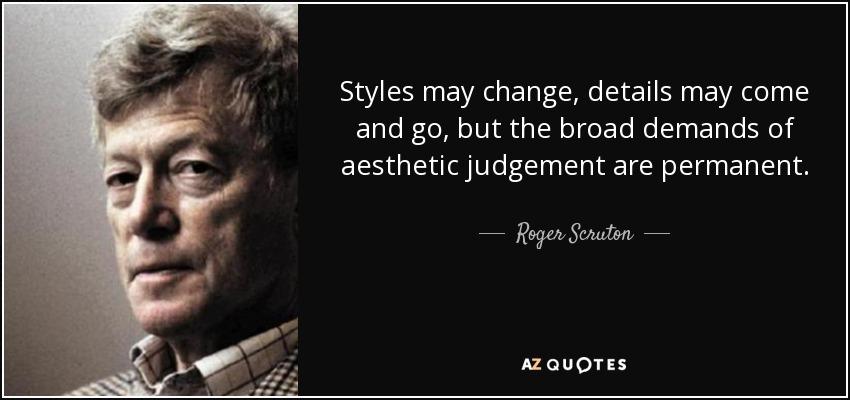 aesthetic judgement