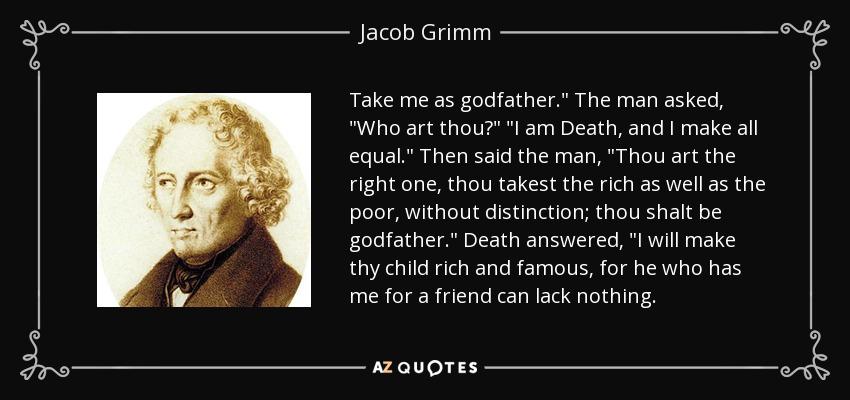godfather death by jakob and wilhelm grimm