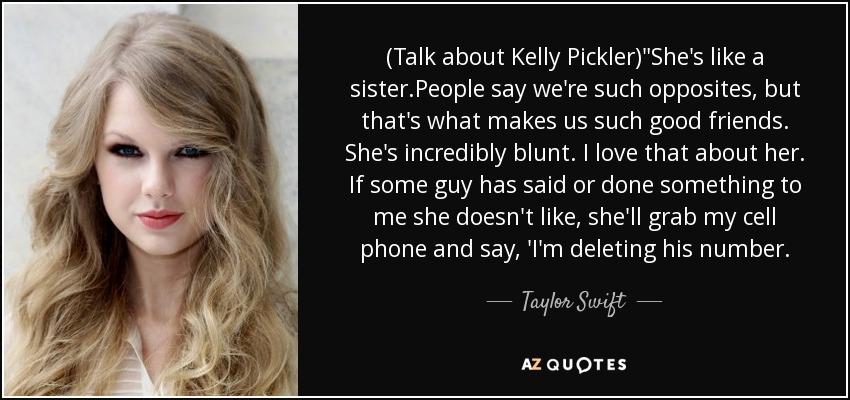(Talk about Kelly Pickler)