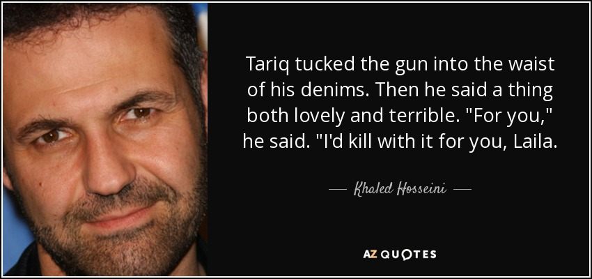Tariq tucked the gun into the waist of his denims. Then he said a thing both lovely and terrible.