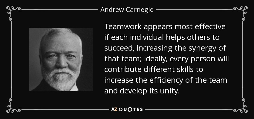the importance of each individual to the teams success When coming together to form a team and organization, each individuals' strengths and weaknesses come together to create a collective of group abilities and incapacities understanding how these traits come together to enable success, create obstacles or form gaps is important for a team to function in a well-rounded way.