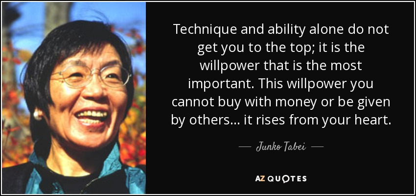 QUOTES BY JUNKO TABEI | A-Z Quotes