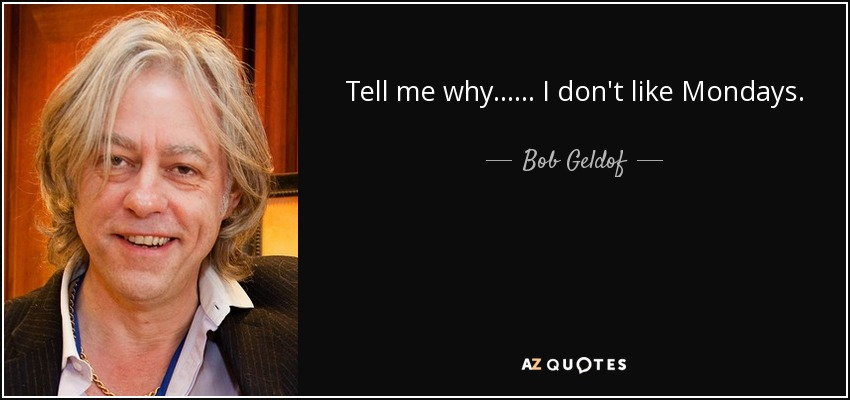 Bilderesultat for bob geldof i don't like mondays