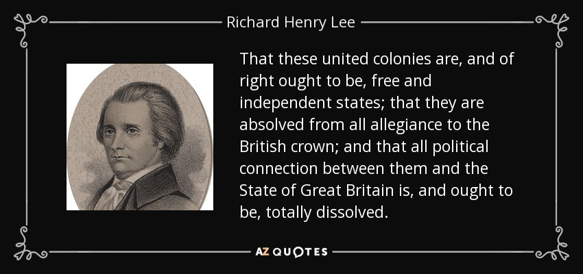 Image result for richard henry lee