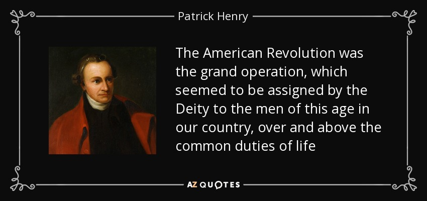 what did patrick henry do in the american revolution