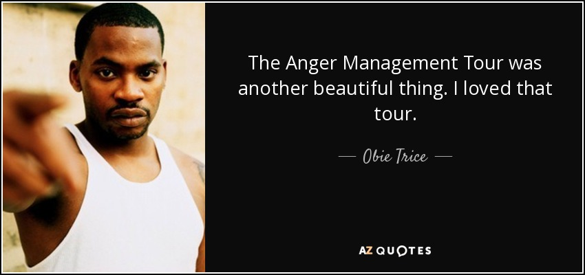 The Anger Management Tour was another beautiful thing. I loved that tour. - Obie Trice