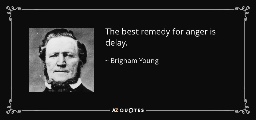 The best remedy for anger is delay. - Brigham Young