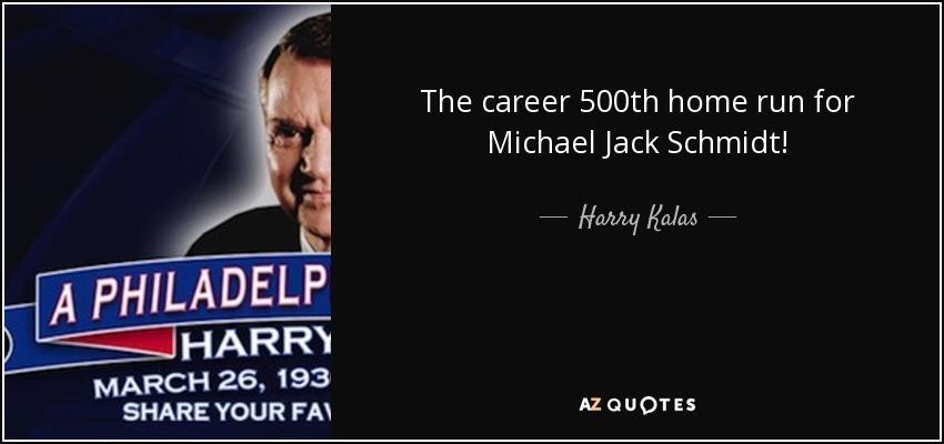 The career 500th home run for Michael Jack Schmidt! - Harry Kalas