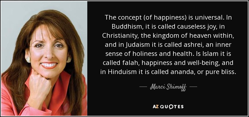Marci Shimoff Quote The Concept Of Happiness Is Universal In