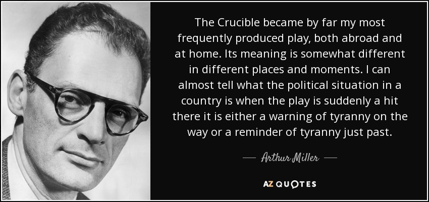 Arthur Miller Quote The Crucible Became By Far My Most Frequently Impressive The Crucible Quotes
