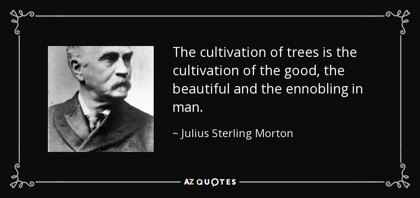 The cultivation of trees is the cultivation of the good, the beautiful and the ennobling in man. - Julius Sterling Morton
