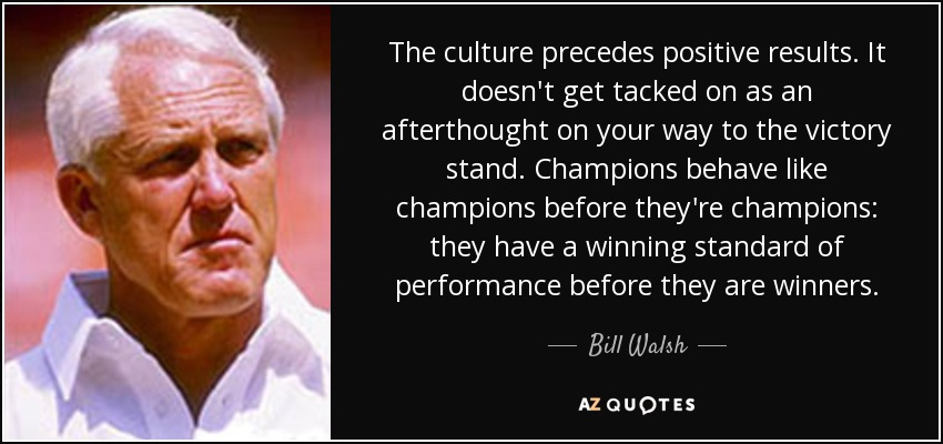 TOP 25 QUOTES BY BILL WALSH (COACH) (of 62) | A-Z Quotes