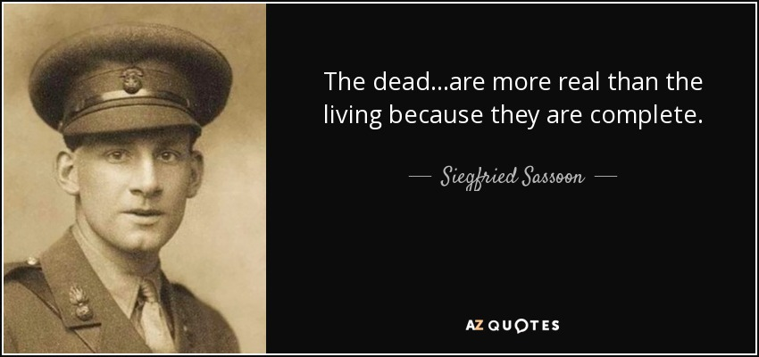 the death bed siegfried sassoon essay