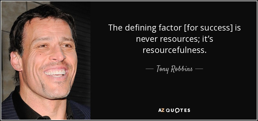 Image result for tony robbins resourcefulness