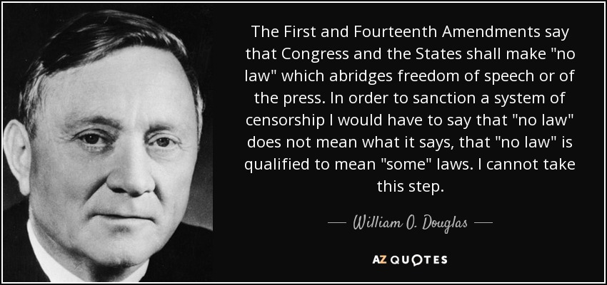 The First and Fourteenth Amendments say that Congress and the States shall make
