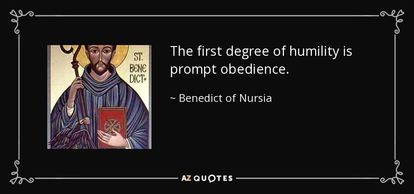 st benedict obedience and humility