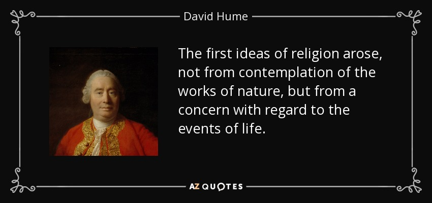an argument against david humes philosophy of religion Free essay: david hume was a british empiricist, meaning he believed all knowledge comes through the senses he argued against the existence of innate ideas.