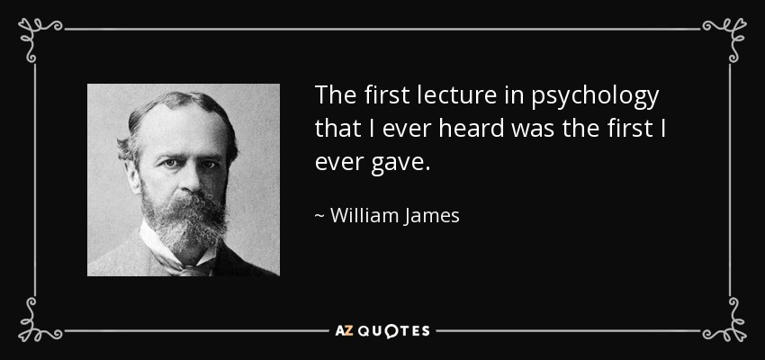 the contributions of william james in the field of psychology
