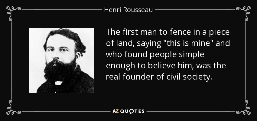 The first man to fence in a piece of land, saying