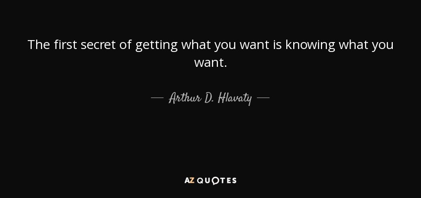 Best Do You Know What You Want Quotes