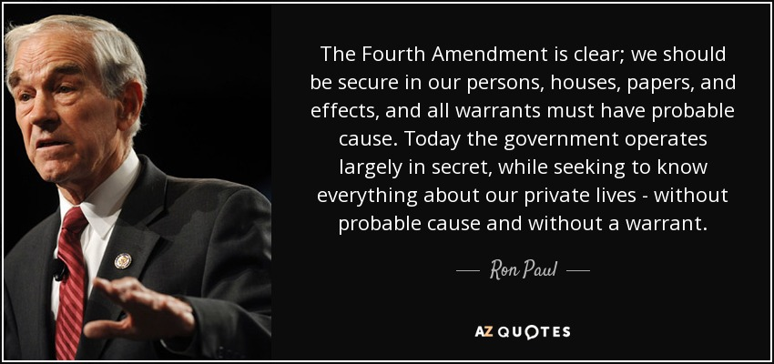 research papers on the fourth amendment The fourth amendment third-party doctrine  papers, or effects  congressional research service 2 the third-party doctrine has been heavily criticized for.