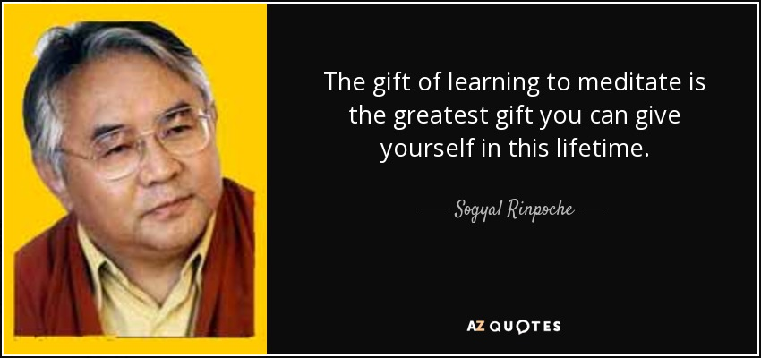 The gift of learning to meditate is the greatest gift you can give yourself in this lifetime. - Sogyal Rinpoche