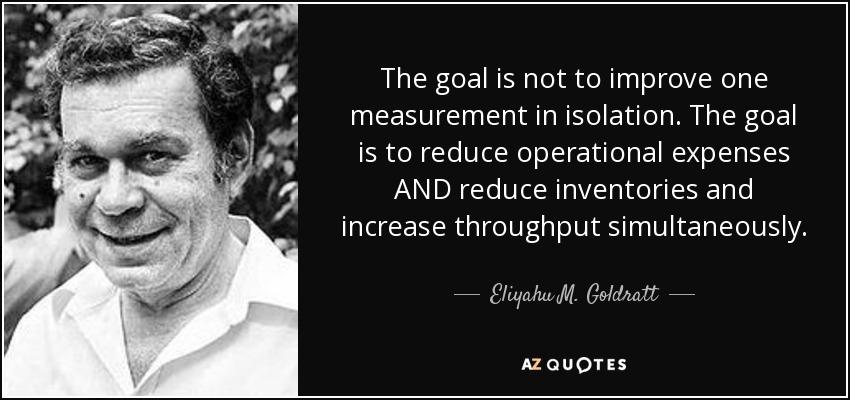 eliyahu m goldratts the goal essay