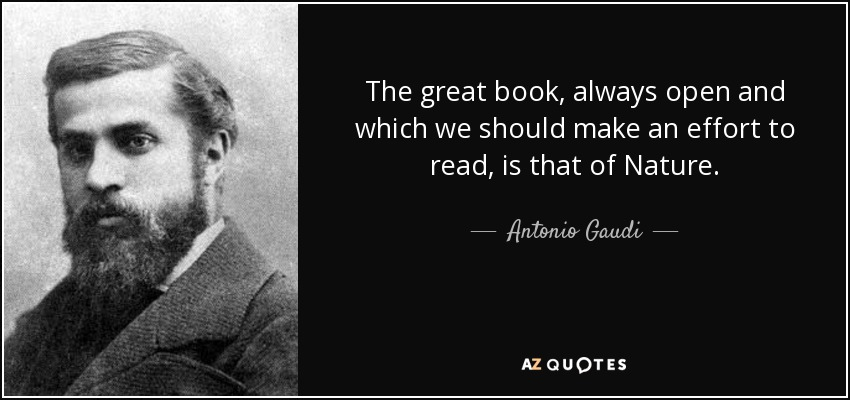 The great book, always open and which we should make an effort to read, is that of Nature. - Antonio Gaudi