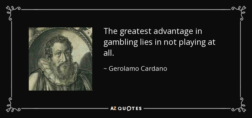 Cardano the gambling carter casino hotel wi