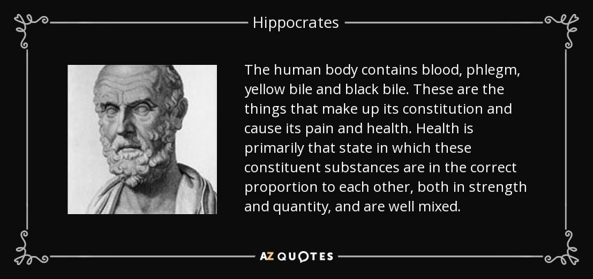 Hippocrates Quote: The Human Body Contains Blood, Phlegm