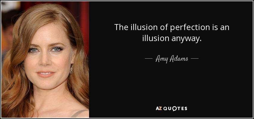 The illusion of perfection is an illusion anyway. - Amy Adams