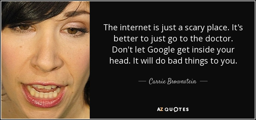 Carrie Brownstein quote: The internet is just a scary