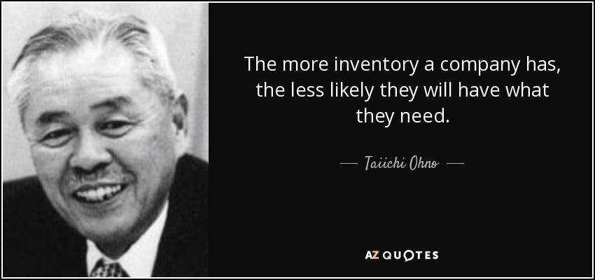 citazione di Taiichi Ohno