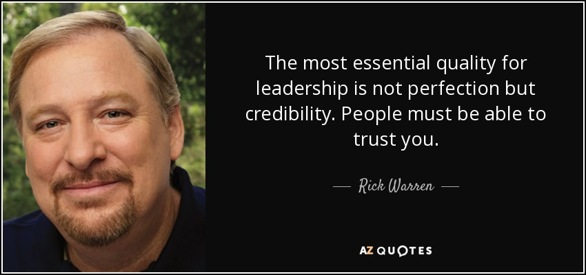 Top 25 Credibility Quotes Of 355 A Z Quotes