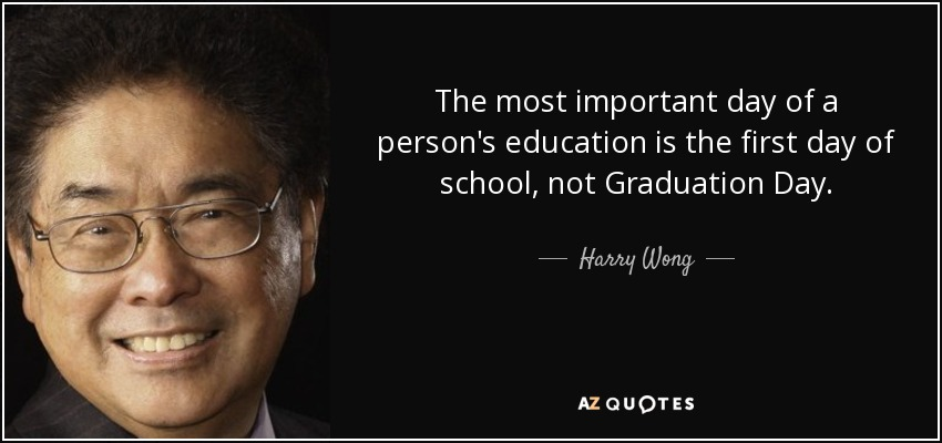 Harry Wong Quote The Most Important Day Of A Persons Education Is