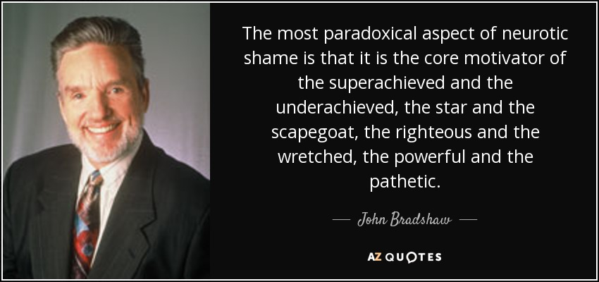 John Bradshaw Quote: The Most Paradoxical Aspect Of