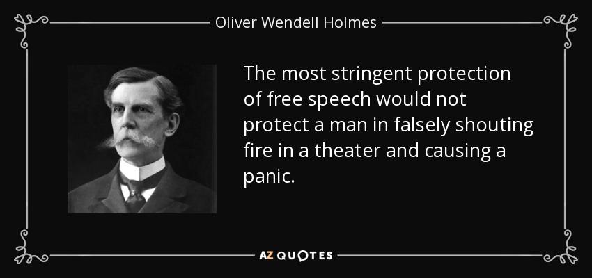 Oliver Wendell Holmes fire