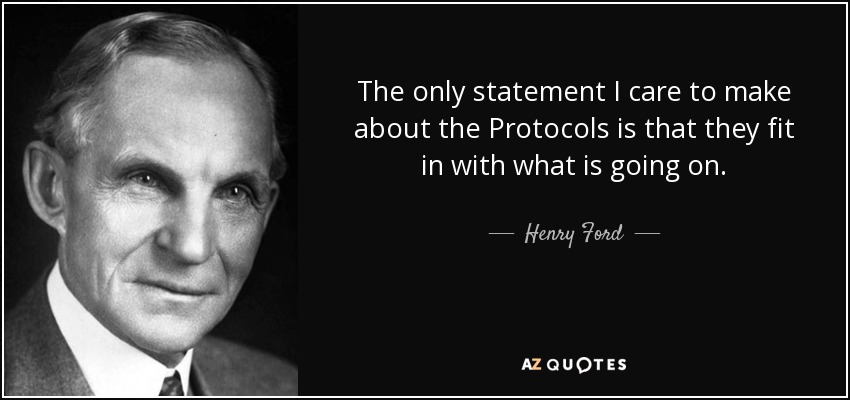 Image result for henry ford protocols