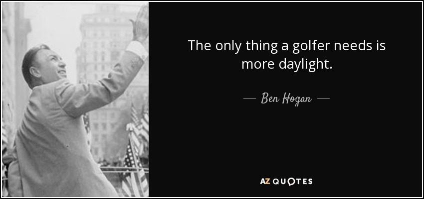 Ben Hogan Quotes Jack Nicklaus