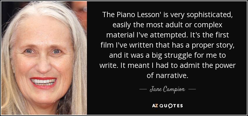 the piano lesson film
