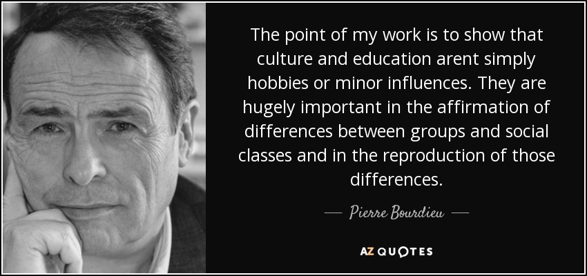 an analysis of the relationship between culture and power in the work of pierre bourdieu Bourdieu's anthropological work was dominated by an analysis of the mechanisms of reproduction of social hierarchies bourdieu criticized the primacy given to economic factors in the analysis of social order and change.