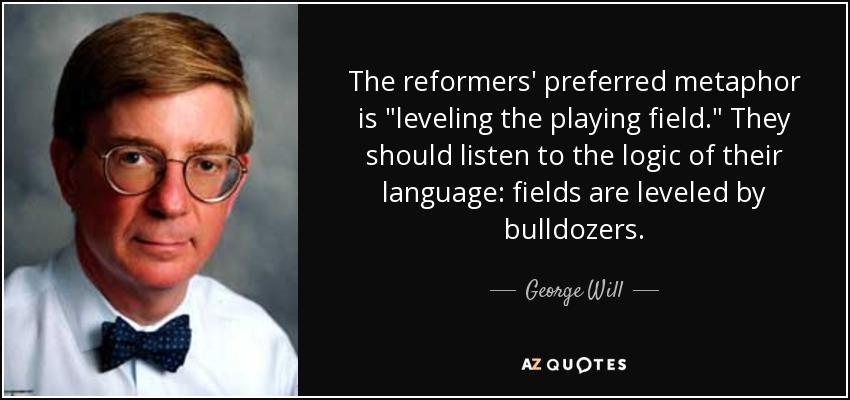 The reformers' preferred metaphor is