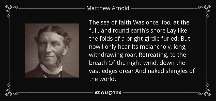 Image result for the sea of faith arnold