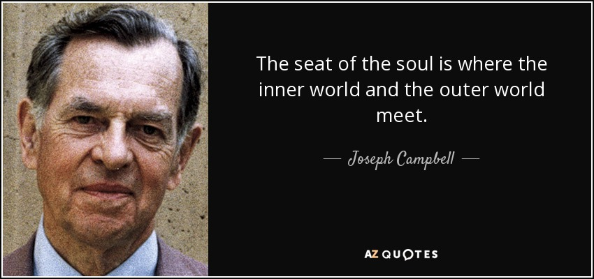 Joseph Campbell Quote The Seat Of The Soul Is Where The Inner World