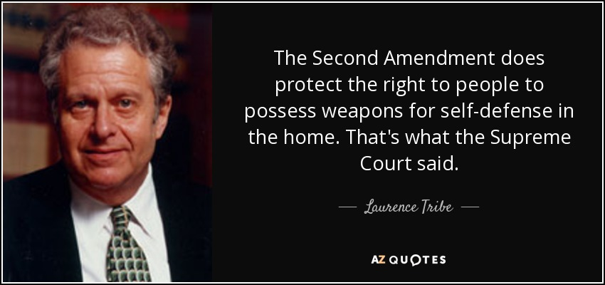 2Nd Amendment Quotes Fair Laurence Tribe Quote The Second Amendment Does Protect The Right