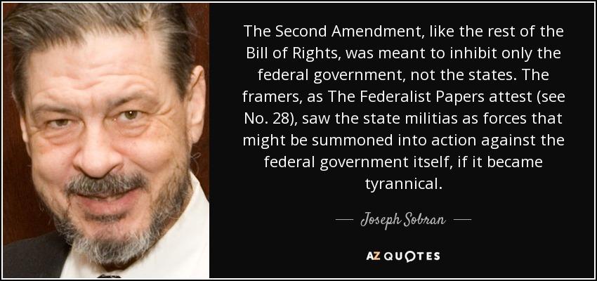 federalist papers second amendment