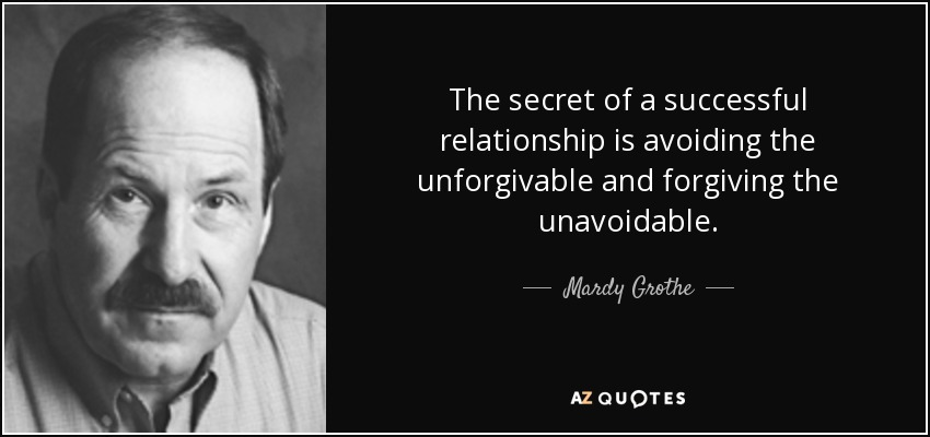 The secret to a successful relationship