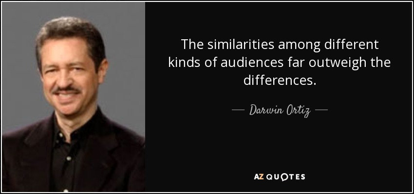 Darwin Ortiz Quote The Similarities Among Different Kinds Of