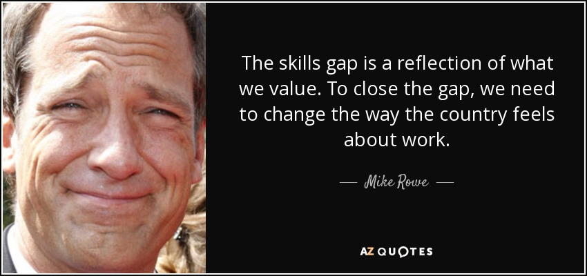 Mike rowe skills gap