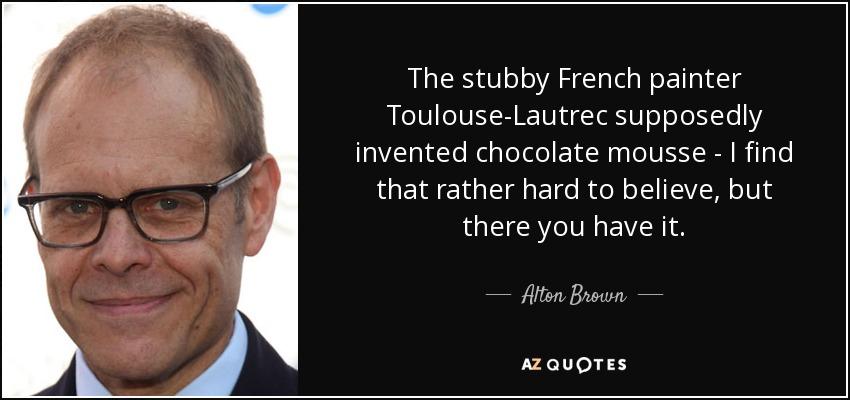 Alton Brown Chocolate Mousse Video